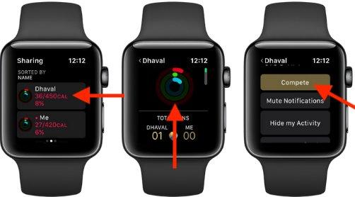 Mời thi đấu trên Apple Watch
