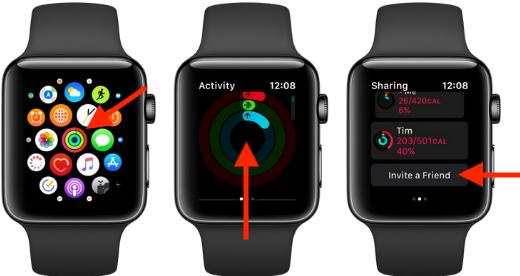Mời bạn bè trên Apple Watch