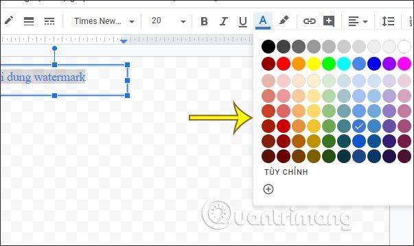 Cách chèn watermark trong Google Docs - itctoday