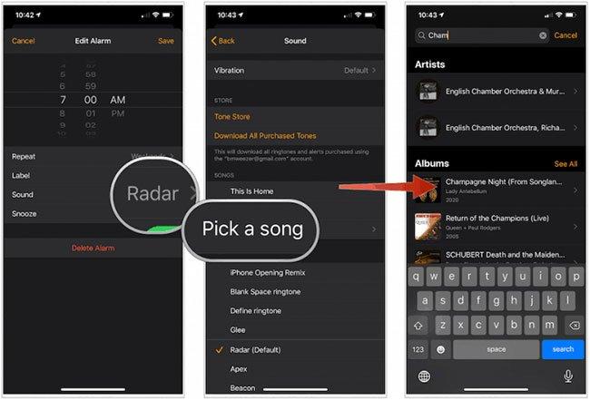 Cách dùng bài hát Apple Music làm chuông báo thức iPhone