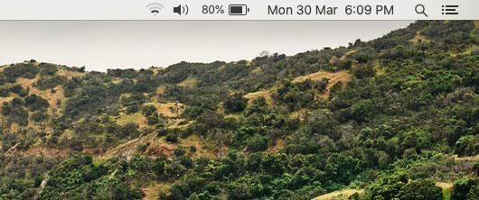 macOS hiển thị thời gian và thứ trong tuần trên thanh menu