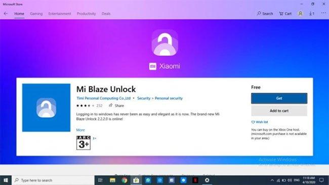 Tải ứng dụng Mi Blaze Unlock
