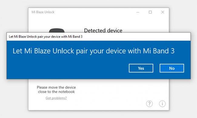 Cách mở khóa laptop Windows với Mi Band 3/Mi Band 4
