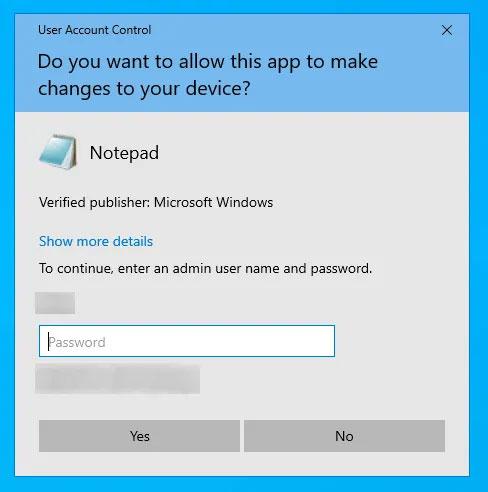 Nhập mật khẩu admin và ứng dụng sẽ mở ra