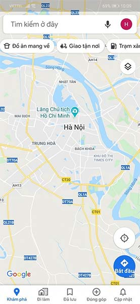 Các shortcut mới Google Maps