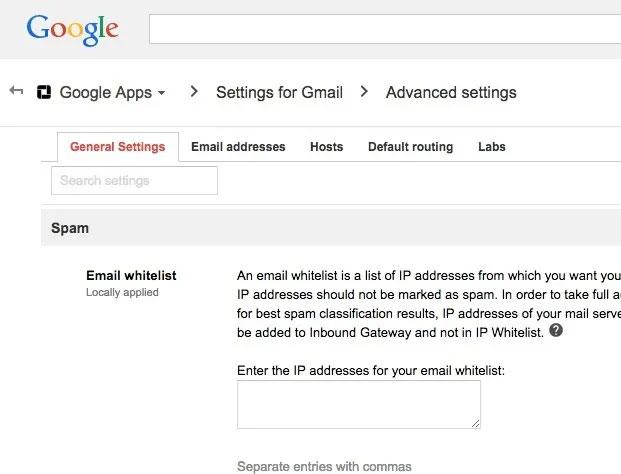 Nếu có tài khoản G Suite, bạn có thể dễ dàng lập danh sách whitelist cho nhiều địa chỉ IP
