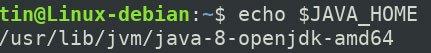 Giá trị được lưu trữ trong biến JAVA_HOME