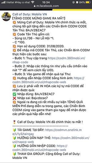 code cod mobile