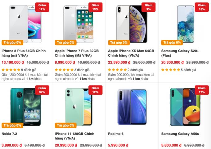 iPhone 11, Galaxy S20 và hàng loạt smartphone giảm giá mạnh cuối tháng 4