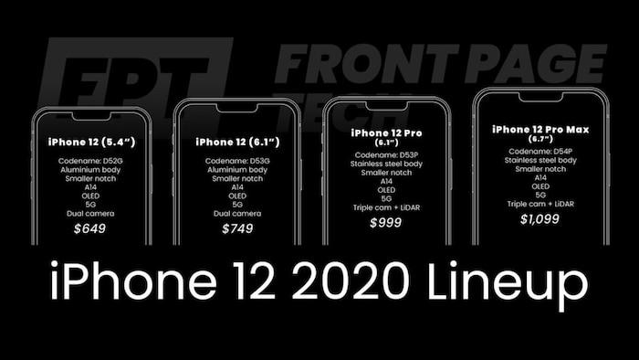 """iPhone 12 lộ bảng giá và thời gian ra mắt khiến giới mê công nghệ """"sốt xình xịch"""""""