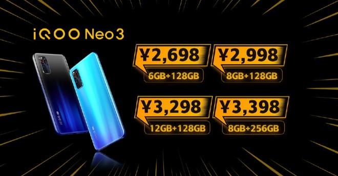 iQOO Neo3 ra mắt: Snapdragon 865, màn hình 144Hz, sạc nhanh 44W, giá từ 8.9 triệu đồng - Ảnh 4.