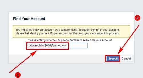 Phải làm sao khi Yahoo không nhận được mã khôi phục Facebook?