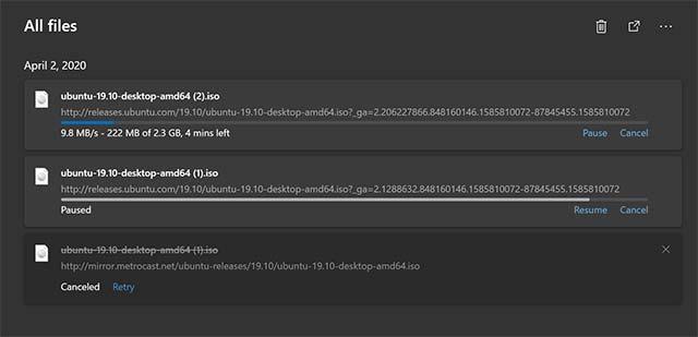 Quản lý download