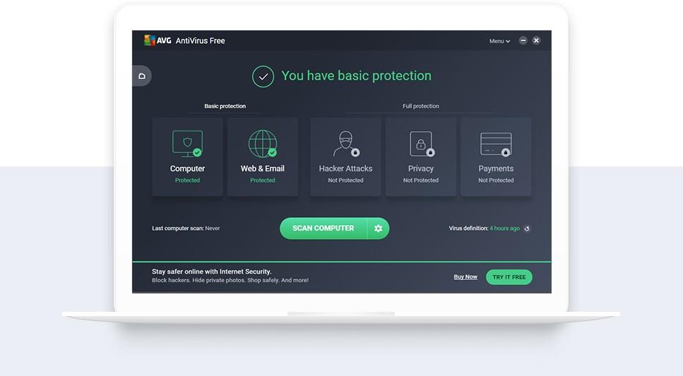 AVG AntiVirus FREE 2020 20.3.3120 - Phần mềm diệt virus hiệu quả và miễn phí
