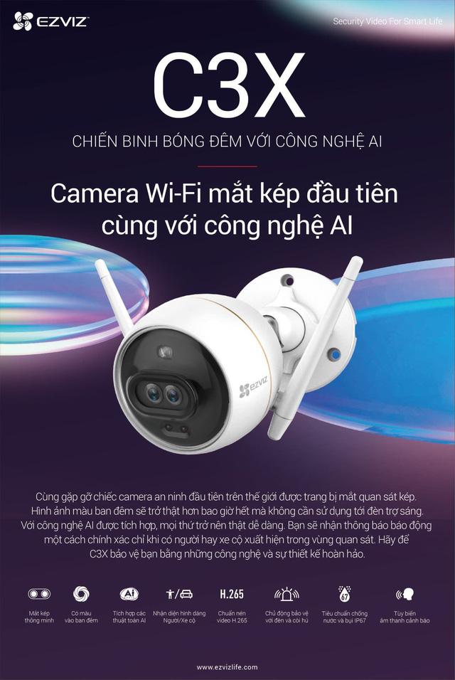 """""""Bóc tem"""" EZVIZ C3X - Camera wifi mắt kép tích hợp AI đầu tiên trên thế giới - Ảnh 2."""