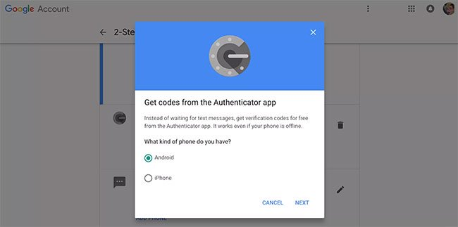 Nhấp vào Android hoặc iPhone