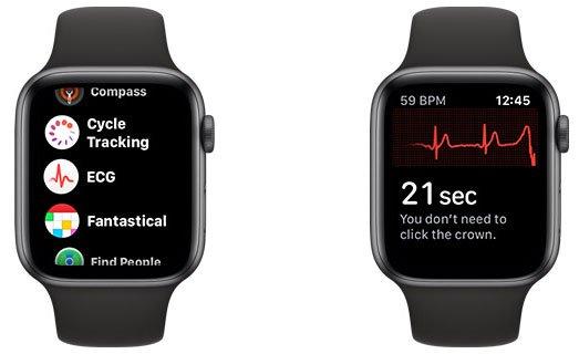 Khởi chạy ứng dụng ECG trên đồng hồ, rồi nhấn và giữ Digital Crown