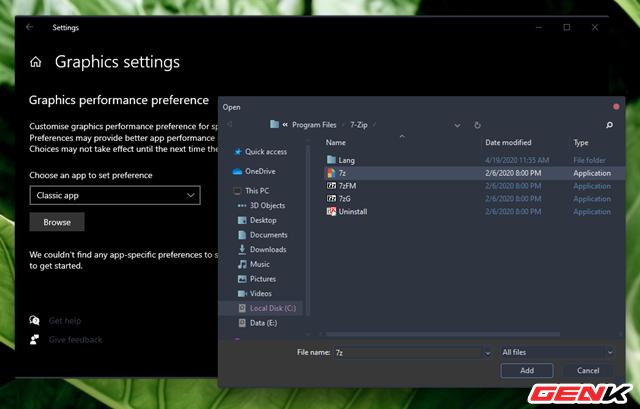 Cách thiết lập sử dụng Card màn hình mặc định cho từng ứng dụng trên Windows 10 - Ảnh 5.