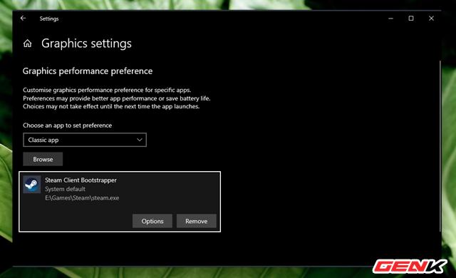 Cách thiết lập sử dụng Card màn hình mặc định cho từng ứng dụng trên Windows 10 - Ảnh 6.