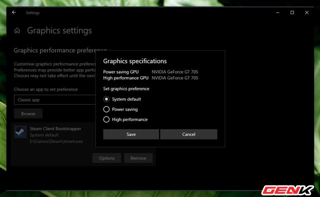 Cách thiết lập sử dụng Card màn hình mặc định cho từng ứng dụng trên Windows 10 - Ảnh 7.