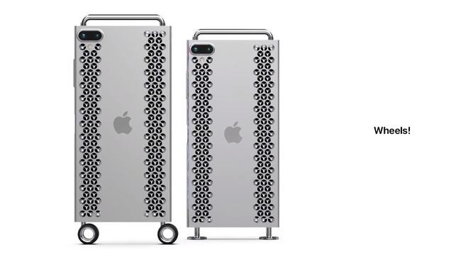 """Concept iPhone 12 """"điên rồ"""" chưa từng thấy, trông chẳng khác gì cái bàn nạo phô mai được gắn bánh xe như Mac Pro - Ảnh 8."""