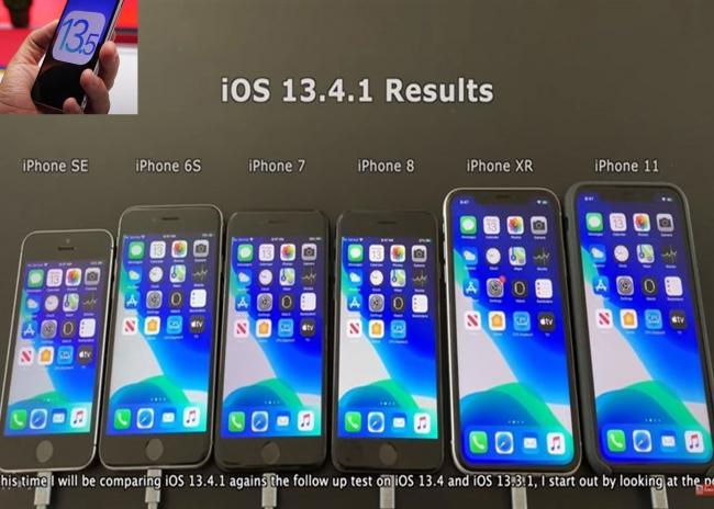 Kết quả so sánh thời lượng sử dụng pin giữa iPhone chạy iOS 13.4 và iOS 13.5?
