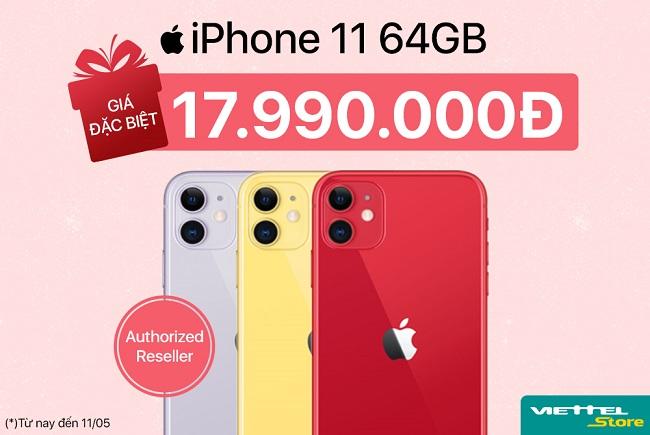 Rẻ chạm ngưỡng kỷ lục: iPhone 11 64GB chính hãng tại Viettel Store giá chỉ còn 17.990.000đ