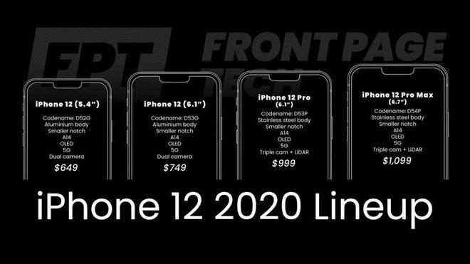 Rò rỉ bảng giá của iPhone 12 - Giá khởi điểm còn rẻ hơn cả iPhone 11 - Ảnh 2.