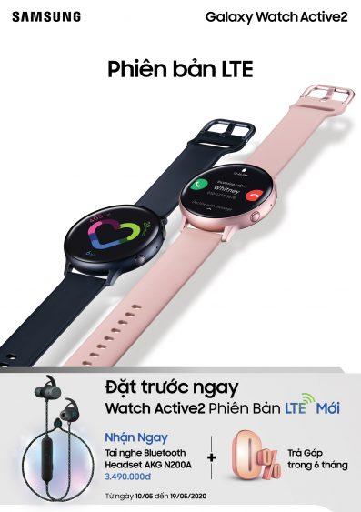 Samsung chính thức đưa Galaxy Watch Active 2 bản LTE về Việt Nam, giá từ 8,49 triệu đồng - Ảnh 1.