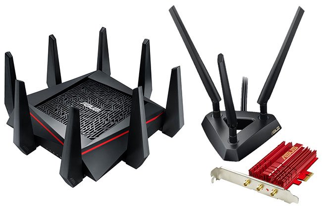 Router 3 băng tần Asus RT-AC5300 Wireless AC5300 Gigabit