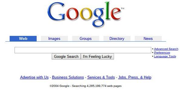 Google phiên bản cũ
