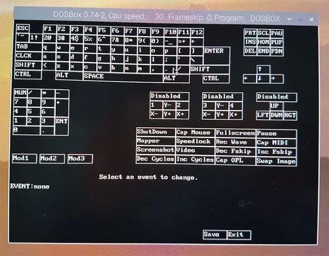 Cửa sổ keymapper sẽ xuất hiện trên màn hình