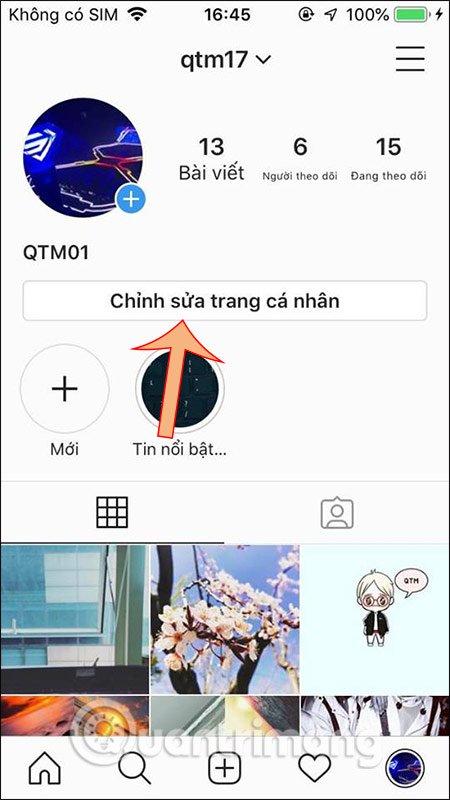 Chỉnh sửa Instagram