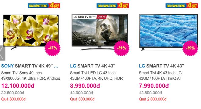 Hàng loạt mẫu tivi đồng loạt giảm giá trong dịp hè