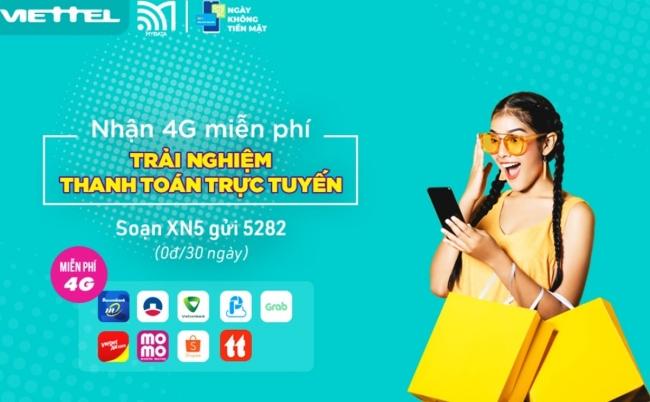 Hướng dẫn cách đăng ký nhận 4G Viettel miễn phí trong 30 ngày để mua sắm thả ga