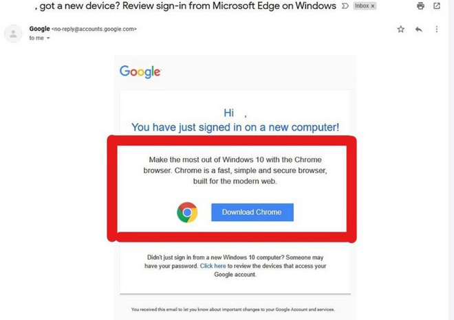Lại đến lượt Google chèo kéo người dùng Microsoft Edge chuyển sang Chrome - Ảnh 2.