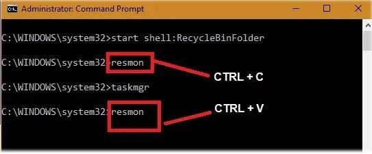 Sử dụng đồng thời của CTRL+C/CTRL+V trong cửa sổ Terminal