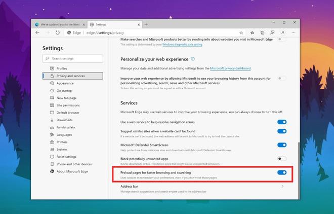 Microsoft Edge bản Chromium đã hỗ trợ tải nội dung trước nhờ Page Preloading - Ảnh 4.