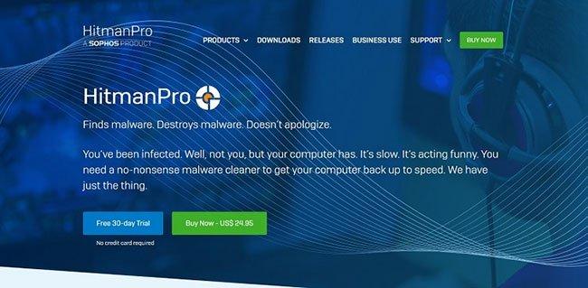 Hitman Pro cung cấp bản dùng thử miễn phí và hỗ trợ một số tùy chọn ngôn ngữ ngoài tiếng Anh