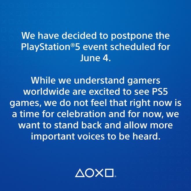 Sony bất ngờ hoãn sự kiện ra mắt game PS5 vào ngày 4/6 - Ảnh 1.