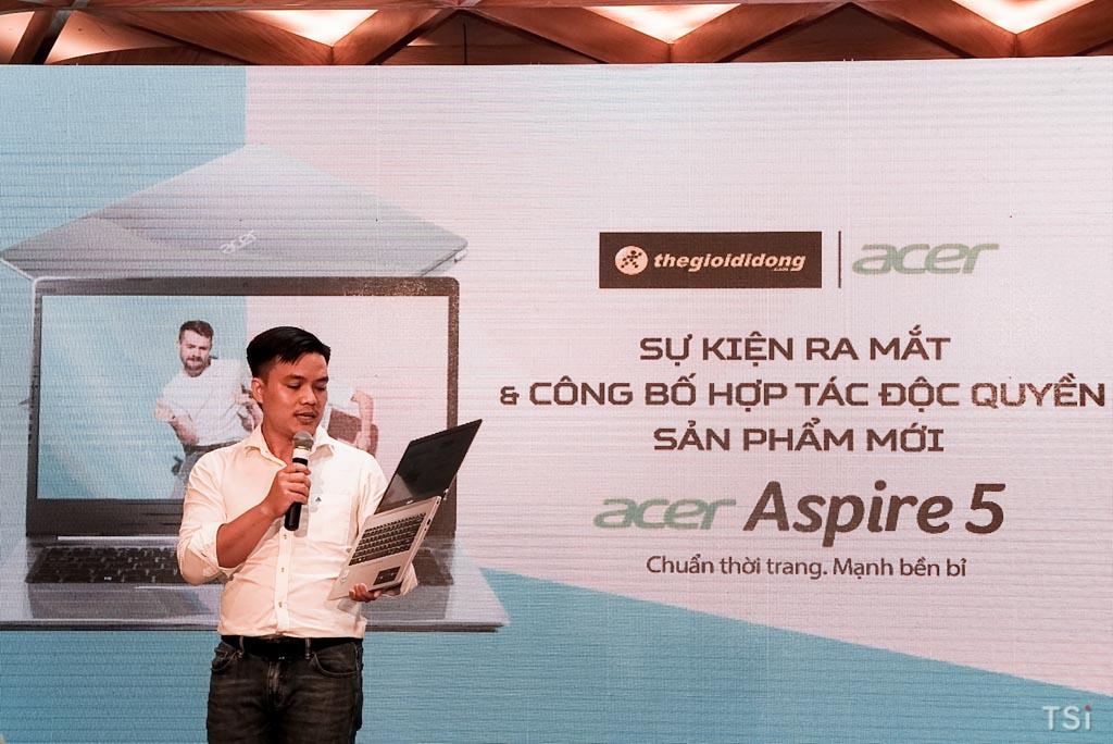 Thế Giới Di Động ra mắt và độc quyền kinh doanh Acer Aspire 5