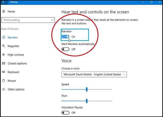 Công cụ Narrator sẽ nhật được rất nhiều cải tiến trên Windows 10 20H1