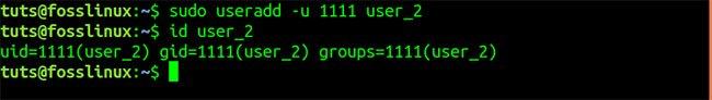 Tạo người dùng mới với UID cụ thể