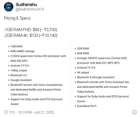 Xiaomi Mi TV Stick lộ toàn bộ thông số và giá bán - Ảnh 2.