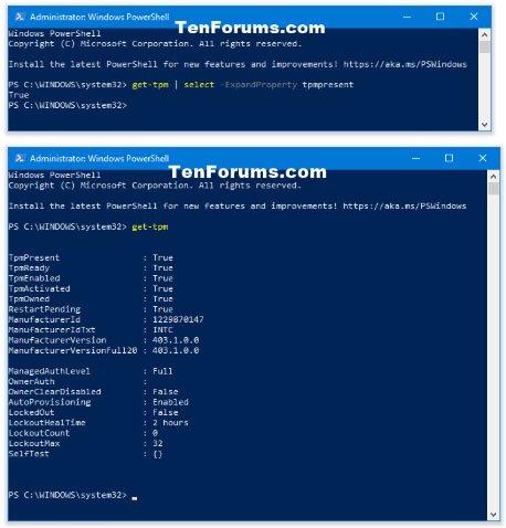 Xem chi tiết TPM trong PowerShell