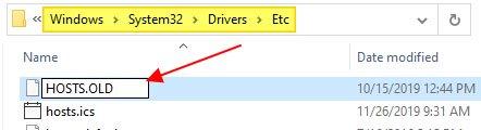 Mở thư mục C:WindowsSystem32DriversEtc