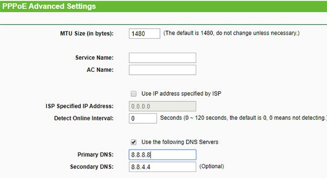 Thay đổi trình phân giải DNS