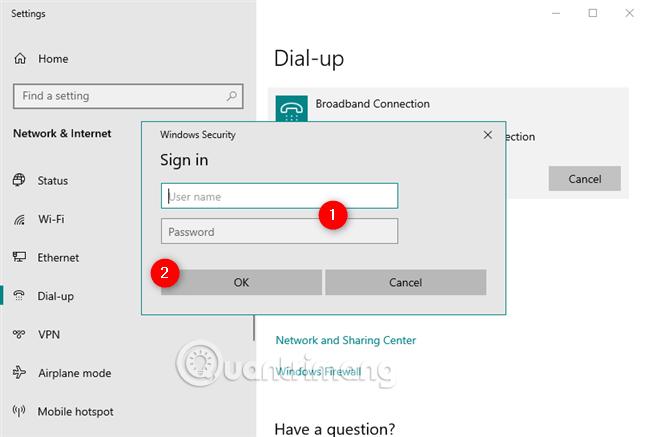 Nhập tên người dùng và mật khẩu mỗi lần sử dụng
