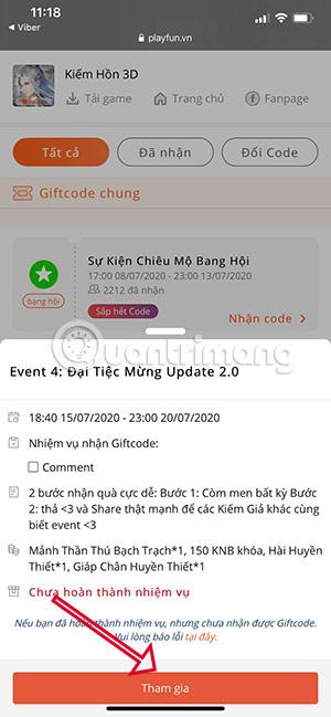 giftcode kiếm hồn 3d