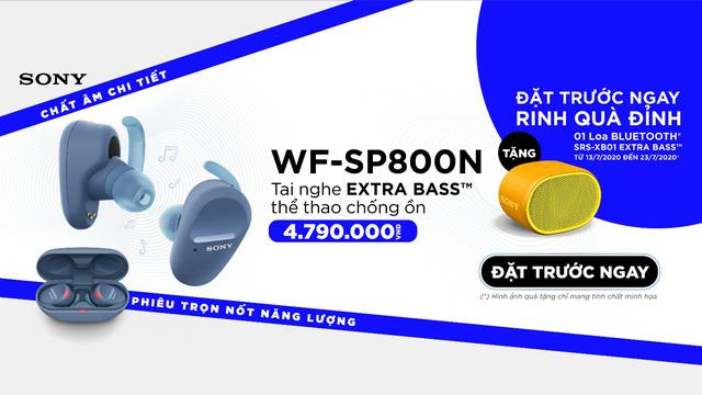 Sony ra mắt tai nghe thể thao chống ồn EXTRA BASS™ Truly Wireless WF-SP800N, khuyến mãi đặt hàng từ 13 - 23/07 - Ảnh 3.